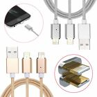 2-in-1 2.4a Micro Usb Charging Cable Magnetic Adapter Charger For Iphone Samsung