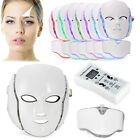 7 Colors Micro-current LED Photon Facial Neck Mask Skin Rejuvenation Therapy