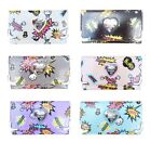 Comic Print Womens Faux Leather Patent Glossy Wallet LYDC Designer Ladies Boxed