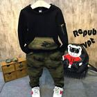 Boys Clothing Sets Spring Kids Long sleeve Blouse Camouflage Pants Suits