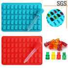 50 Cavity Silicone Gummy Bear Chocolate Mold Candy Maker Ice Tray Jelly Mould