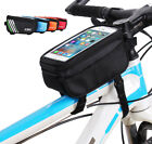 Bicycle MTB Top Tube Bag Up To 5.7'' Phone Screen Size, Front Frame Pannier Bag