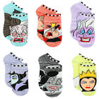 Disney Villains Girls Teen Womens 6 pack Socks DV007JNS DV007GNS $12.99 USD