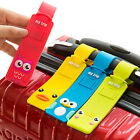 1Pc Silicon Rubber Travel Luggage Tags Name Address ID Suitcase Cartoon Labels