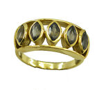 refined Smoky Quartz Gold Plated Brown Ring wholesales US 6,7,8,9