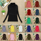 2017 Womens Slim Turtleneck Tops Long Sleeve LADY T-Shirt Pullover Casual Blouse