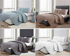 Quilted 3pcs Chic Embossed Comforter Coverlet Bedspread Set Queen King Size Bed