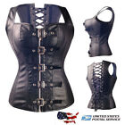 Sexy Overbust Corset Vest Coat Steel boned Body Shapewear Steampunk S-6XL US