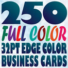 250 Full Color Custom 32pt BUSINESS CARD Printing with Painted COLOR EDGE