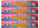 "4 x TROLL / TROLLS  EDIBLE RIBBON BORDER CAKE TOPPER 11"" X 2"" ICING WAFER RICE"