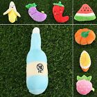 9 Size Dog Pet Puppy Chew Toy Squeaker Squeaky Plush Sound Fruits Vegetables Toy
