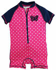 Wippette Baby Girls Butterfly Polka Dots Swimsuit 1-Piece Rashguard Bathing Suit