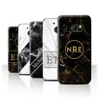 Personalized Custom Marble/Granite Phone Case for HTC 10/One M10 (2016)/Initial
