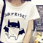 SURPRISE Tiny Batman Korea Fashion Women Girl Loose Casual Cotton Summer Blouse