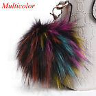 Extra Large 13cm Faux Fur Ball Key Chain Pompom cell phone Car Pendant Handbag