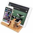 Wood Charging Dock Station Holder for Apple Watch iWatch iPhone 8/ i Pad 2 3 4