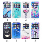 For iPhone 6 plus New Patterned PU Leather Window View Flip Case Women Men Cover