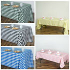 """60x102"""" Checkered Gingham Tablecloth Polyester Rectangular Linens Wedding PARTY"""