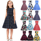 Girls Kids 50s Vintage Cocktail Party Evening Birthday Pinup Swing Prom Dresses