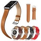 Genuine Leather Replacement Wrist Watch Strap Band for Apple Watch Series 1 / 2