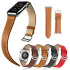 Leather Replacement Wrist Watch Band For New Apple Watch Series 7 6 SE 5 4 3 2 1