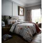 Catherine Lansfield Heritage Stag Grey Duvet/Quilt Cover Set