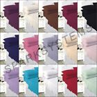 Plain Dyed colored Single / Double Bed Fitted Sheet PolyCotton / pillow cases