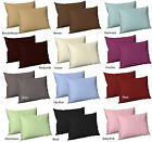 2 X Luxury Plain Dyed Poly Cotton Housewife Pillowcases Pillow Cover 16 Colours