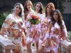 Adult/Kids Floral silk bridesmaid robes gowns bride wedding party kimono robes