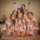 Dressing Gown - FLORAL SATIN Bridal Robes - Silk Floral Robe Bride, Bridesmaid