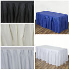 14 feet Polyester Banquet Table Skirt Wedding Party Trade Show Buffet Linens