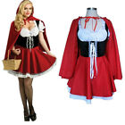Plus Size Little Red Riding Hood Costume Cosplay Adult Party ClubWear