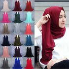 Women Fashion Chiffon Long Scarf Muslim Hijab Arab Wrap Shawl Headwear wholesale