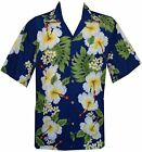 Hawaiian Shirts Mens Hibiscus Flower Print Beach Party Aloha
