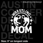 WRESTLING MOM Vinyl Decal Car Truck Window Laptop Sticker - High School College