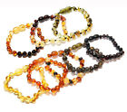 Genuine Baltic Amber Baroque Bead Baby Anklet Bracelet 5.5 - 5.9 in Choose Color