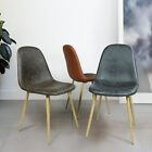 4pcs Dining Chair Eames Type PU Leather Seat Cover Matel Leg