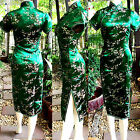 Asia Miss China/Japan Qipao/Geisha-Kleid/Kostüm Cheongsam Grün Gr.34,36,38,40,42