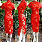 Asia Miss China/Japan Qipao/Geisha-Kleid/Kostüm Cheongsam Rot Gr.34,36,38,40,42