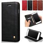 Genuine Leather Retro Magnetic Flip Wallet  Stand Case Cover For iPhone 7 6S 5s