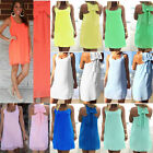Kyпить UK Womens Summer Casual Sleeveless Evening Party Beach Dress Short Mini Dress на еВаy.соm