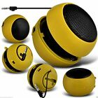 Mini Capsule Travel Portable Rechargeable Speaker with 3.5mm Jack Plug✔YELLOW