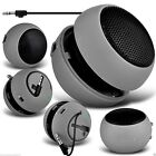 Mini Capsule Travel Portable Rechargeable Speaker with 3.5mm Jack Plug✔GREY