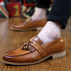 Fashion New Mens PU Leather Tassel Oxford Dress Party Business Formal Shoes Size