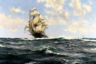 The Wild Ranger of Boston Painting by Montague Dawson Art Reproduction