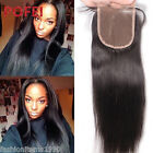 "8""-20"" 3.5*4 100% 8A Brazilian Human Hair Lace Closure Silky Straight 3Parts"
