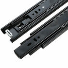 Black Mute Soft Close Ball Bearing Drawer Slide Runners 3 Section Glide Device