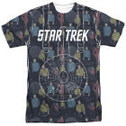 Star Trek Original Series ENTERPRISE CREW 1-Sided Big Print Poly T-Shirt on eBay