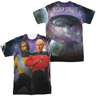 Star Trek Next Generation TNG Picard & Worf 2-Sided All Over Print Poly T-Shirt on eBay