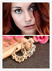 Retro hollow lace Alloy Nose Open Hoop Ring Earring Body Piercing Studs Jewelry